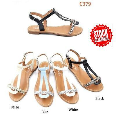 Wholesale Joblot New Ladies Easy Summer Sandals Shoes Box of 12 Pairs Size 36-41