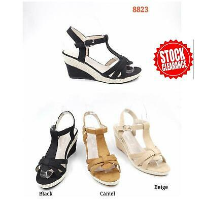 Wholesale Joblot New Ladies Wedges Sandals Heel Shoes Box of 12 Pairs Size 36-41