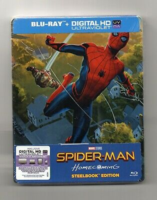 Spider-Man: Homecoming - Blu-ray Steelbook - NEW/SEALED - All Regions: ABC