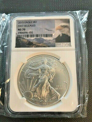 2015 Silver Eagle NGC MS 70 No Mint Mark First Releases