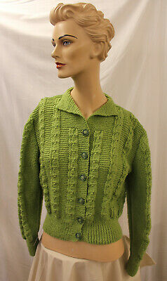 1940/50s Womens Ladies hand Knitted Cardigan WW2 Land Army girl reenactment
