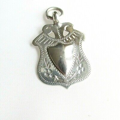 Antique solid silver fob medal