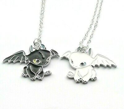 How To Train Your Dragon Necklace Toothless Night Fury Or  Light Fury Girls Boys