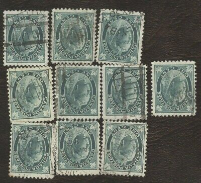 Stamps Canada # 67, 1¢, 1897, lot of 10 used stamps.