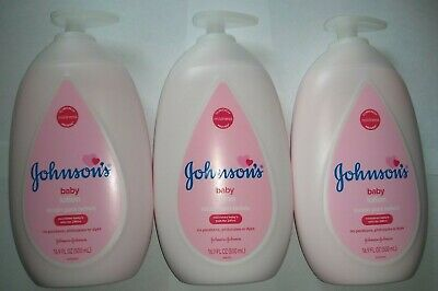 3 JOHNSON's Baby Lotion Nourishes Baby's Skin 24 Hours 16.9 oz 500 ML. NEW