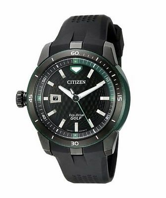 Citizen Eco-Drive Men's AW1505-03E Ecosphere Golf 47mm Black Strap Watch