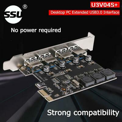 USB Cards 4 Ports 5Gbps PCI-E to USB3.0 PCI-Express Controller Expansion Card