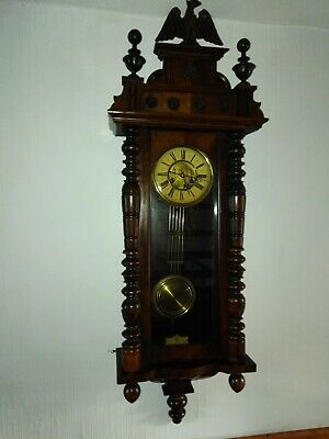 Antique Large Victorian Gustav Becker Vienna Wall Clock
