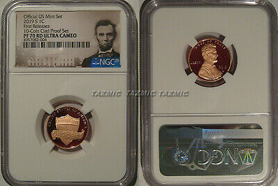 2019 S Proof Lincoln Shield 1c NGC PF 70 RD UCAM First Releases