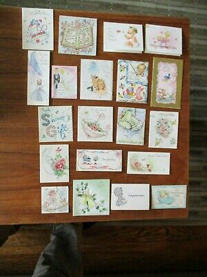 Antique Hallmark and other old greeting cards 20 in total very old very nice