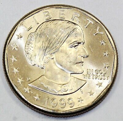 1999 SUSAN B ANTHONY DOLLAR P or D MINT 1-COIN BRILLIANT UNCIRCULATED
