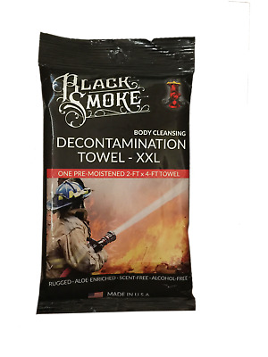 Firefighters First Responders Preppers * Black Smoke XXL Decon Towel Case of 36