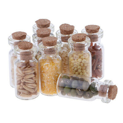 1/12 Dollhouse Miniature Kitchen Accessories Dried Food Glass Jar Decor 9pcs