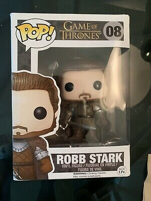 Funko Pop! HBO Game of Thrones ROBB STARK #08 Vinyl Figure VAULTED Damaged Box