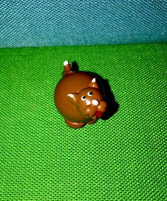 Hand Crafted & Painted Brown Cat Real Glass Marble Land Miniature Doll House