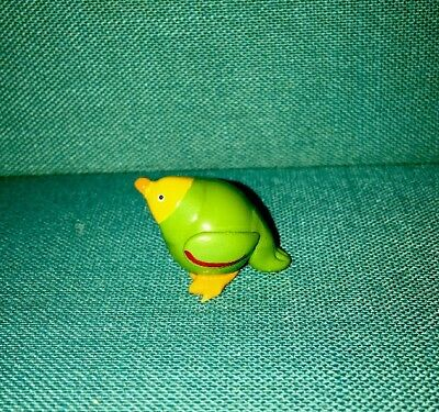 Hand Crafted & Painted Green Parrot Real Glass Marble Land Miniature Doll House