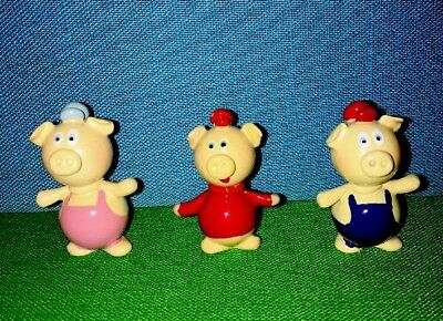 Hand Crafted & Painted 3 Little Pigs Real Glass Marble Land Miniature Doll House
