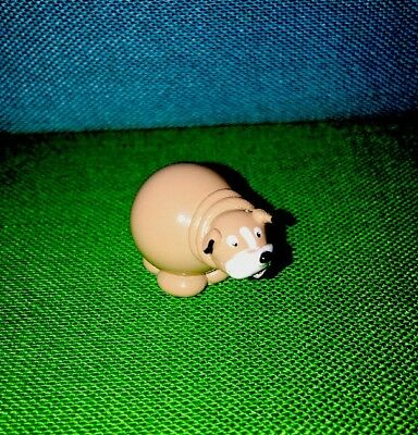 Hand Crafted & Hand Painted Bulldog Real Glass Marble Land Miniature Doll House
