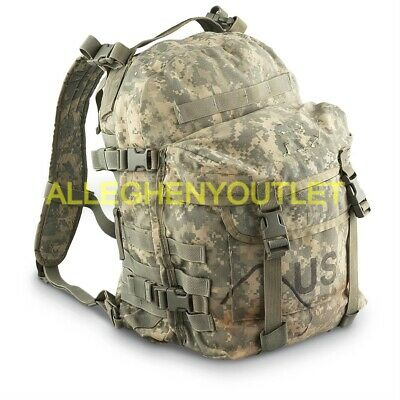 US MILITARY ARMY ACU MOLLE PATROL ASSAULT PACK 3-DAY BACKPACK No Stiffener GC
