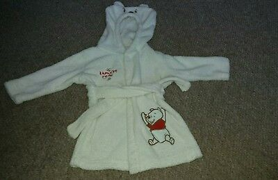 Boys Winnie The pooh Dressing Gown Age 9-12 Months