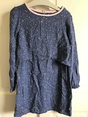 BNWOT Willow Long Sleeve Dress. Girls. Age 4-5 Years. Blue. Layered