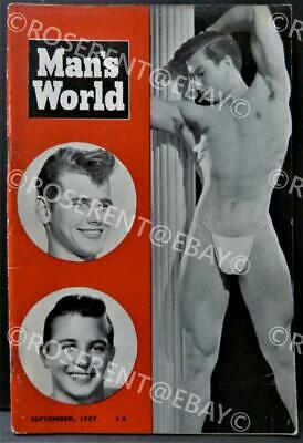 "1957 "" Mans World "" Vintage Male Physique  photo Magazine - September 1957"