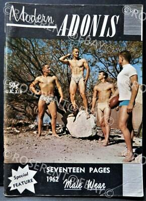 "1962  "" Modern Adonis "" Vintage Male Physique photo Magazine -  Male Wear Issue"