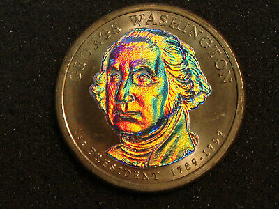 2007-P George Washington Presidential Dollar Hologram Holographic Reflective