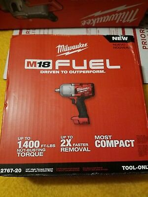 """NEW Milwaukee 2767-20 M18 FUEL 1/2"""" High Torque Impact Wrench with Friction Ring"""