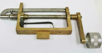 Original Vintage Clock Makers Brass & Steel Clock Mainspring Winder Tool