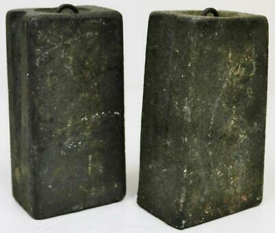 Pair Of Antique Cast Norwich Tavern Wall Clock Weights, Weighing 6lb Each