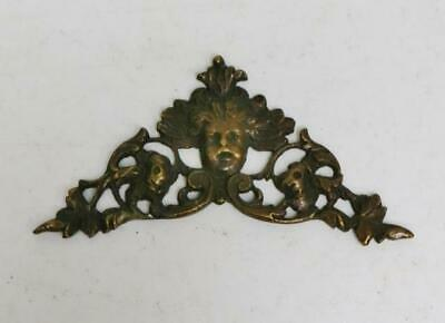 Rare Original Tiny Antique 17thC Brass Verge Bracket Clock Cherub Spandrel