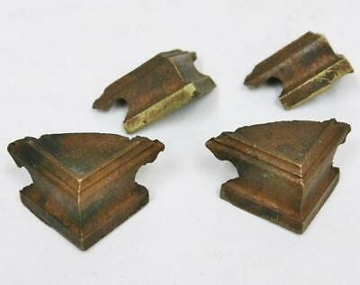 Rare Antique Set 4 Early 18thC Set Of 4 Bronze Corner Verge Bracket Clock Feet