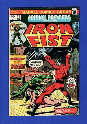 Marvel Premiere Iron Fist #23 Vf High Grade Bronze Age Marvel Comics