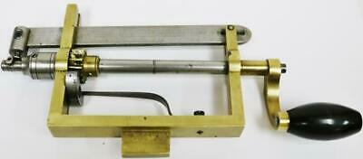 Superb Original Antique Clock Makers Brass & Steel Clock Mainspring Winder Tool