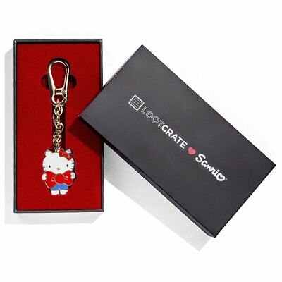 Official Licensed LOOT CRATE Loves Heart SANRIO Hello Kitty Keychain RARE New