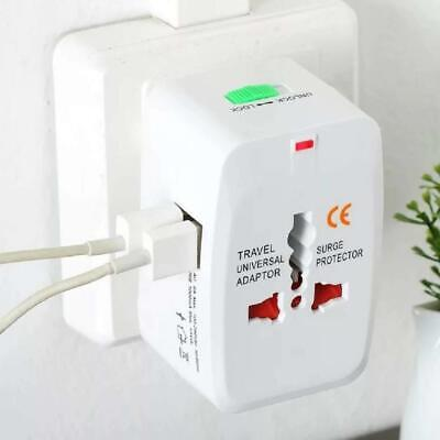 Universal Travel AC Power Charger Adapter Plug Converter with USB free spk