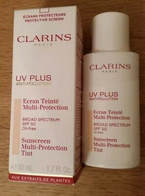 "Clarins ""LIGHT"" UV Plus Anti-Pollution Sunscreen Multi-Protection SPF50 ..."