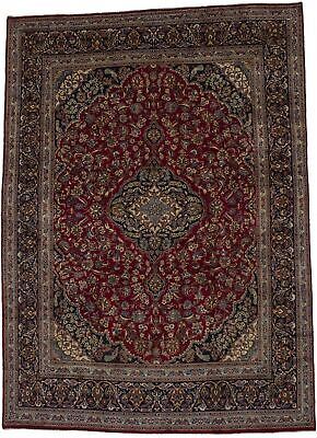 Extra-Large Vintage Pictorial 10X13 Hand Knotted Wool Oriental Area Rug Carpet