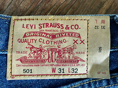 LEVI'S Vintage Jeans 501 BIG E Made in USA 30W / 30L