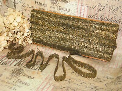BTY-Victorian Antique Metallic Lace Trim Applique French-Bronze-Hats-Clothes