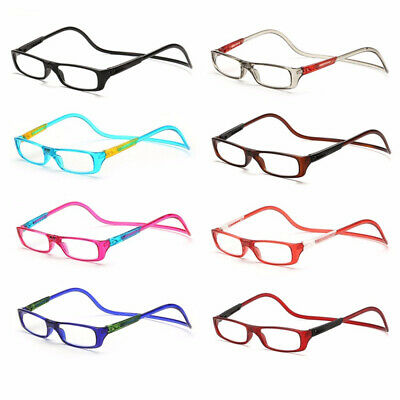 a79e118a9d3 Hot Click Adjustable Magnetic Front Connect Reading Eyeglasses Rim Glasses  New