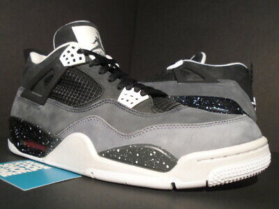 finest selection 9aad2 12eac Nike Air Jordan Iv 4 Retro Fear Pack Black White Cool Grey Pure Platinum  11.5