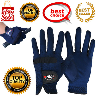 Men Golf Gloves Sweat Absorbent Microfiber Cloth Soft Breathable Right Hand L