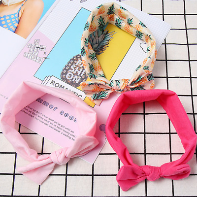 3pcs/Set Baby Girl Headband Ribbon Elastic Headdress Kids Hair Band Newborn Bow