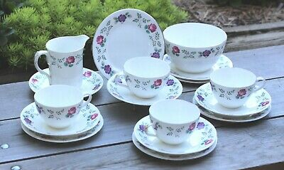 RARE and VERY PRETTY ANTIQUE SHELLEY ROSES PART TEA SET - PATTERN WILSON