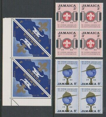 Jamaica - 1964, Inter-American Scout Conference Blocks of 4 - MNH - SG 233/5