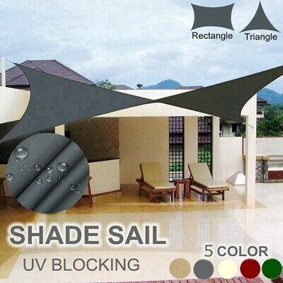 Sun Shade Sail Outdoor Garden Waterproof Awning Canopy Patio Cover 98% UV Block