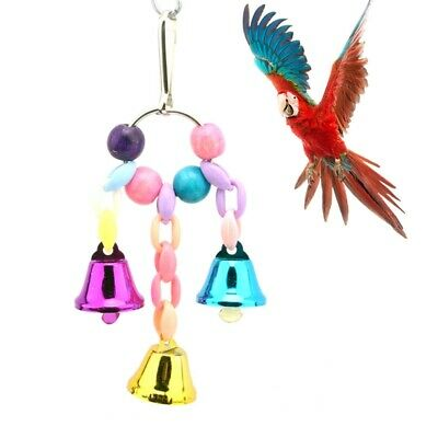 Novel Birds Parrot Toy Hanging Swing Cage Rope Pet Chew Bell Feeder Budgie Game