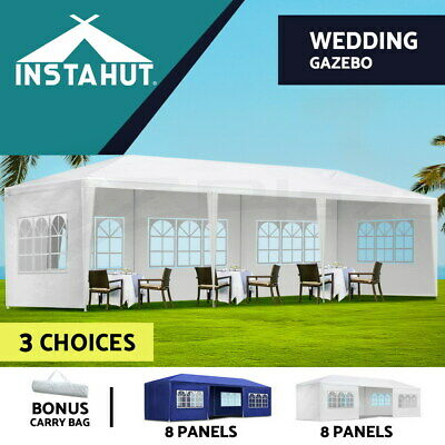 Instahut 3x9m Gazebo Party Wedding Marquee Event Tent Shade Canopy Camping